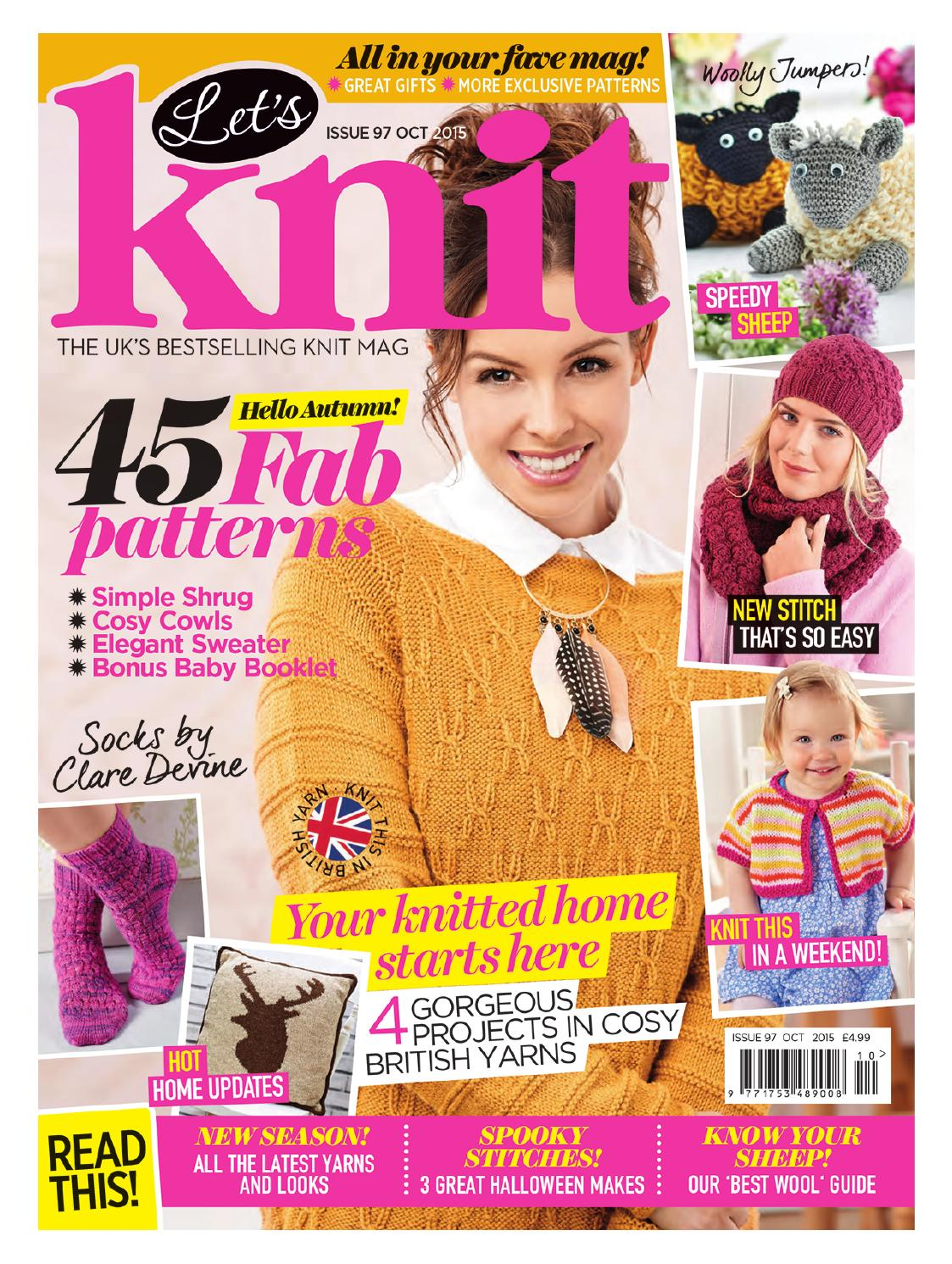 Lets Knit Issue 97 October 2015 By Letsknitmag Issuu Winter Hat Wh