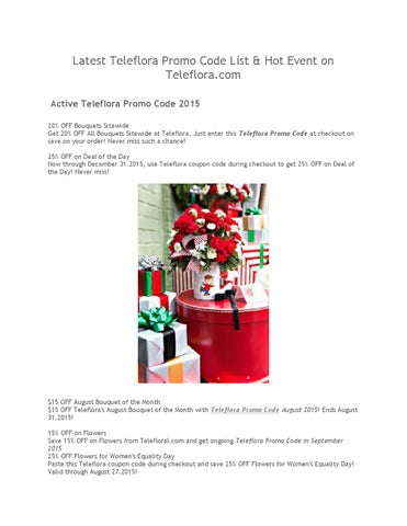 Latest teleflora promo code list & hot event on teleflora