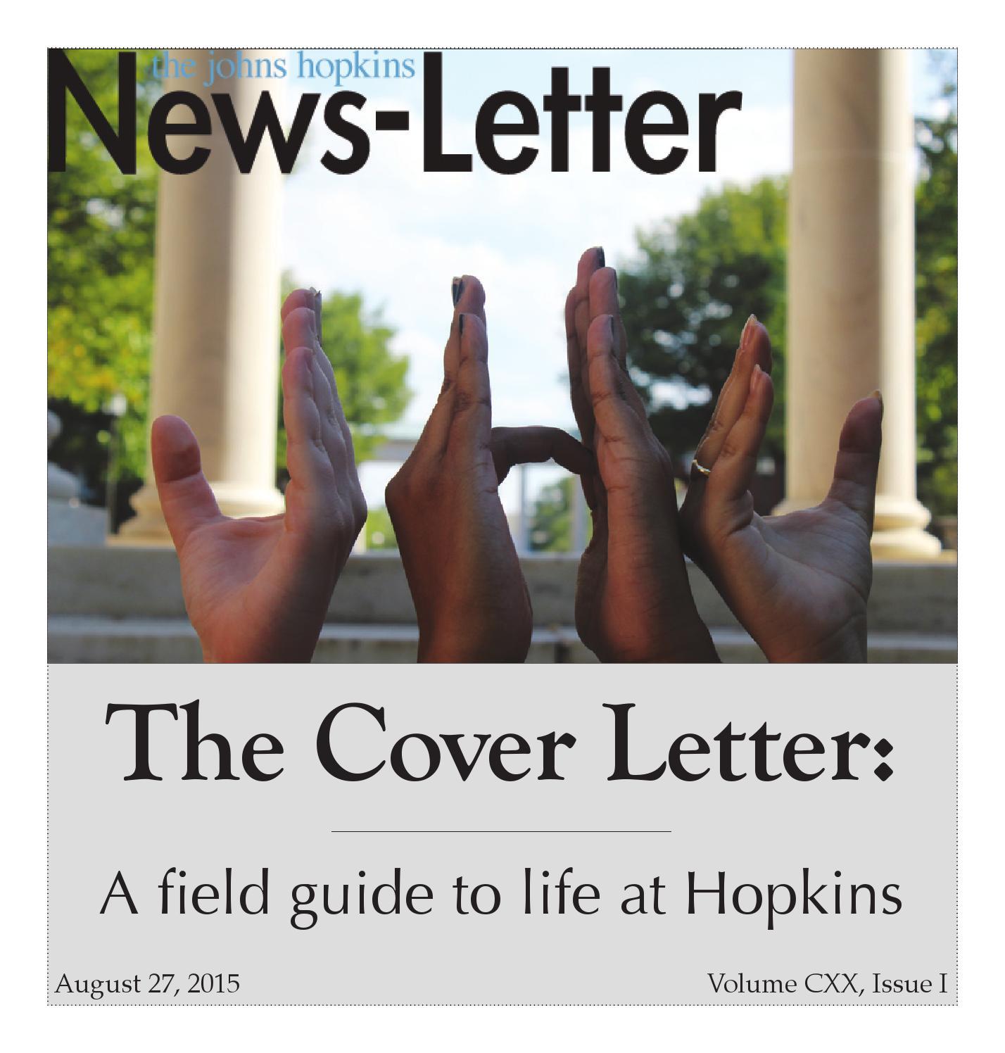 Cover letter johns hopkins