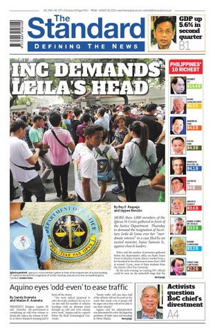 7dcc860e2cfec7 The Standard - 2015 August 28 - Friday by Manila Standard - issuu