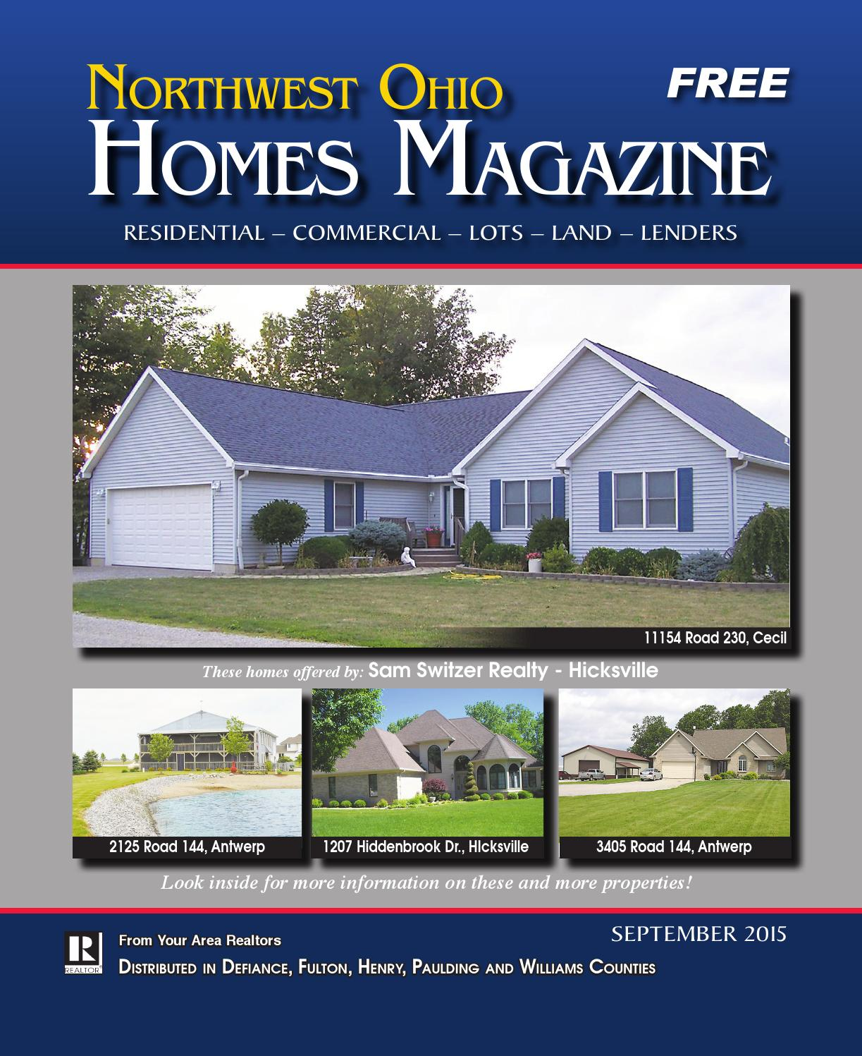 Northwest ohio homes magazine september 2015 by the for Home builders in northwest ohio