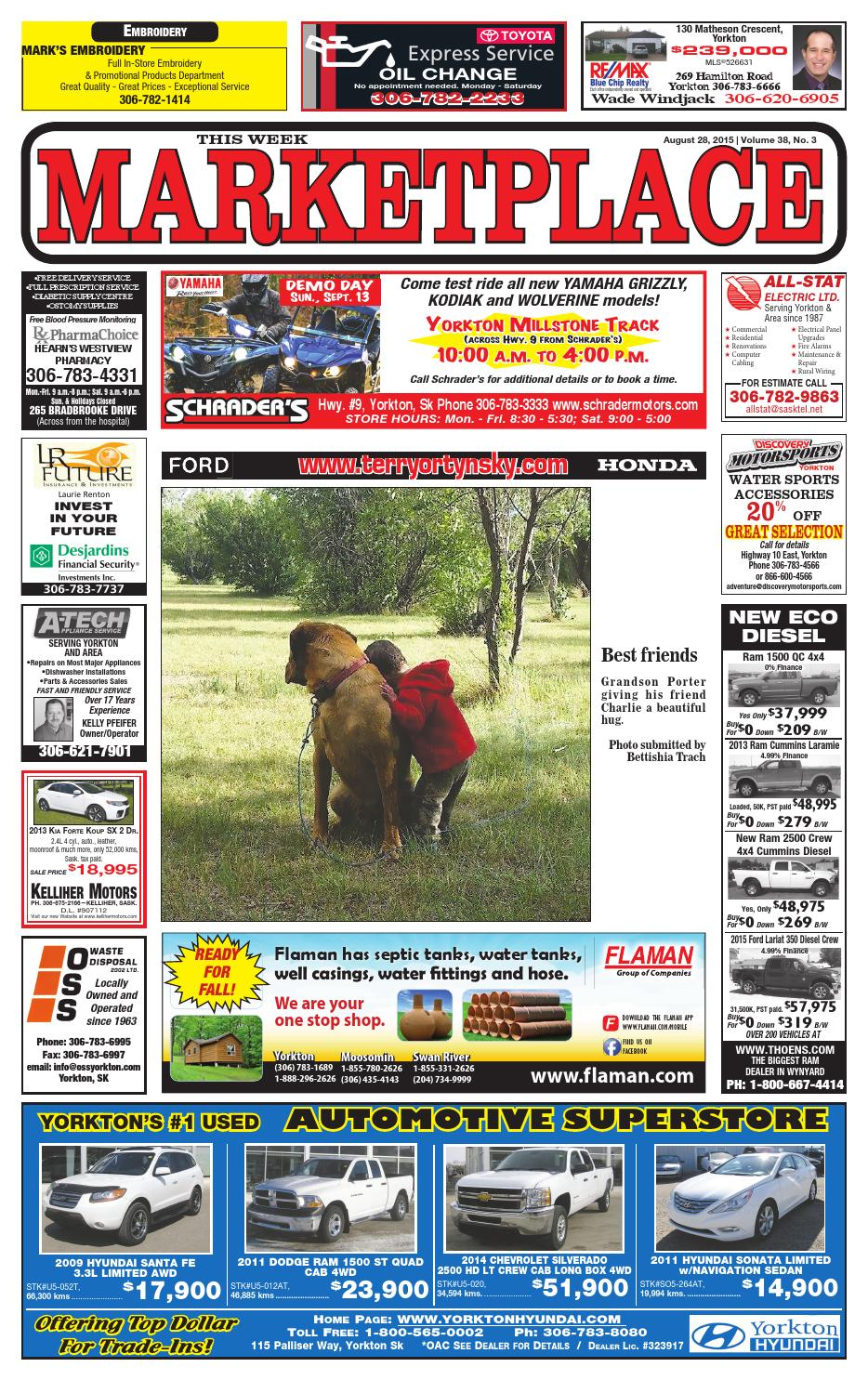 Marketplace August 28 2015 by Yorkton This Week - issuu 9676b3e93a93