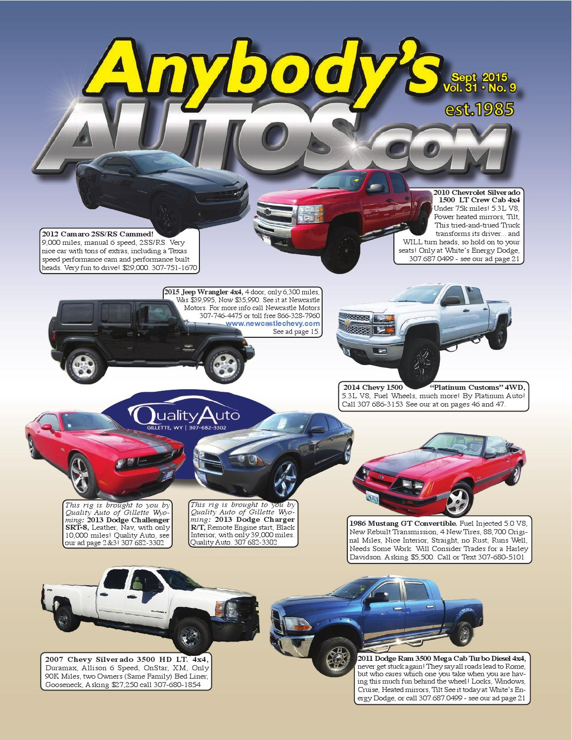 Anybodys Autos Sept 2015 By Issuu 1986 Dodge Ram D250 Pictures Only