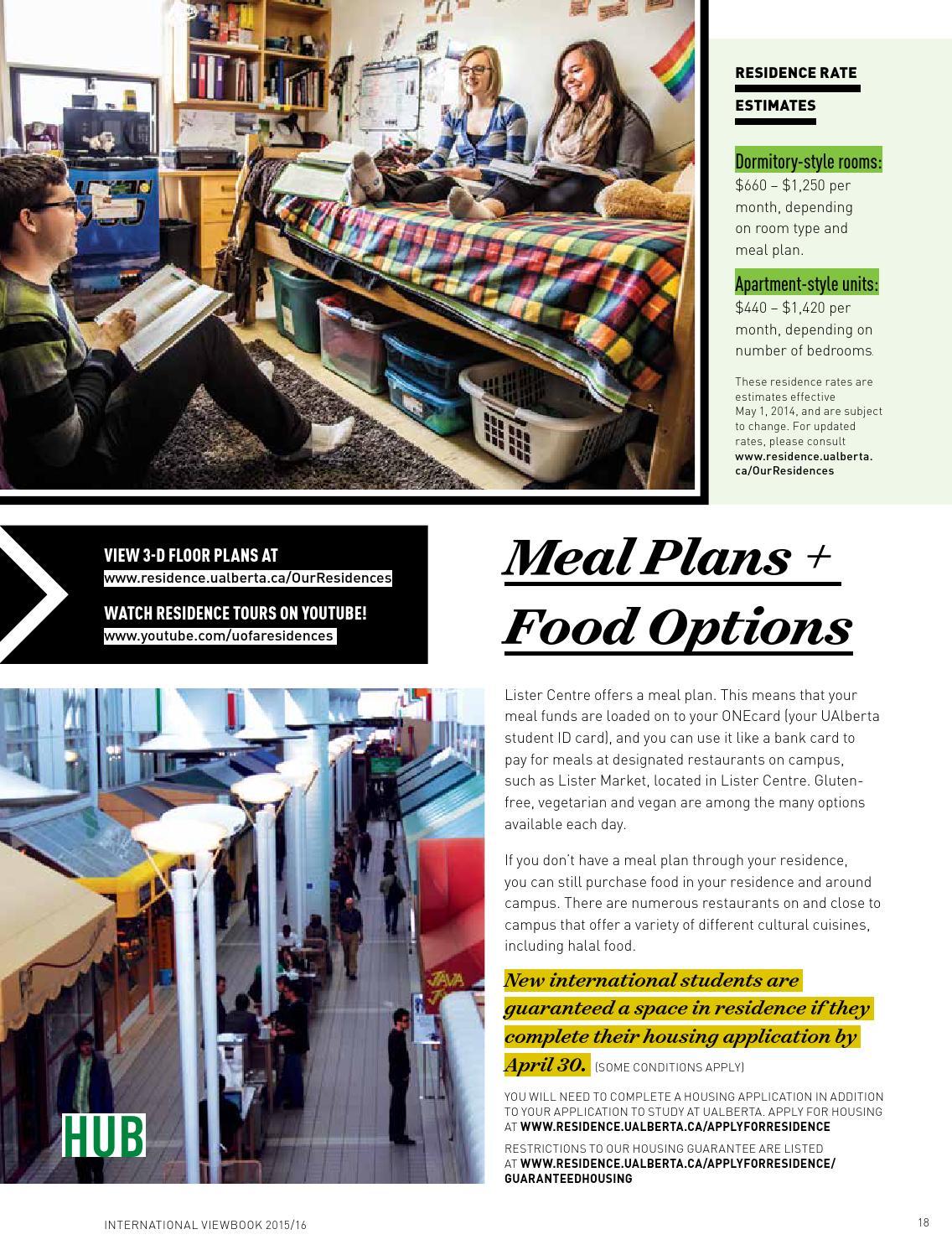 University student diet plan