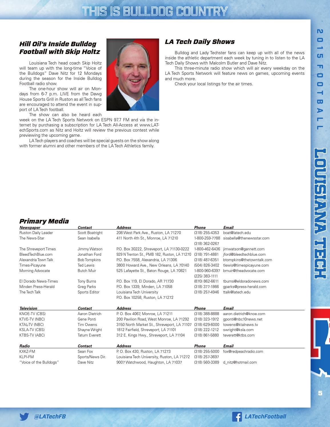2015 Louisiana Tech Football Media Guide by Louisiana Tech