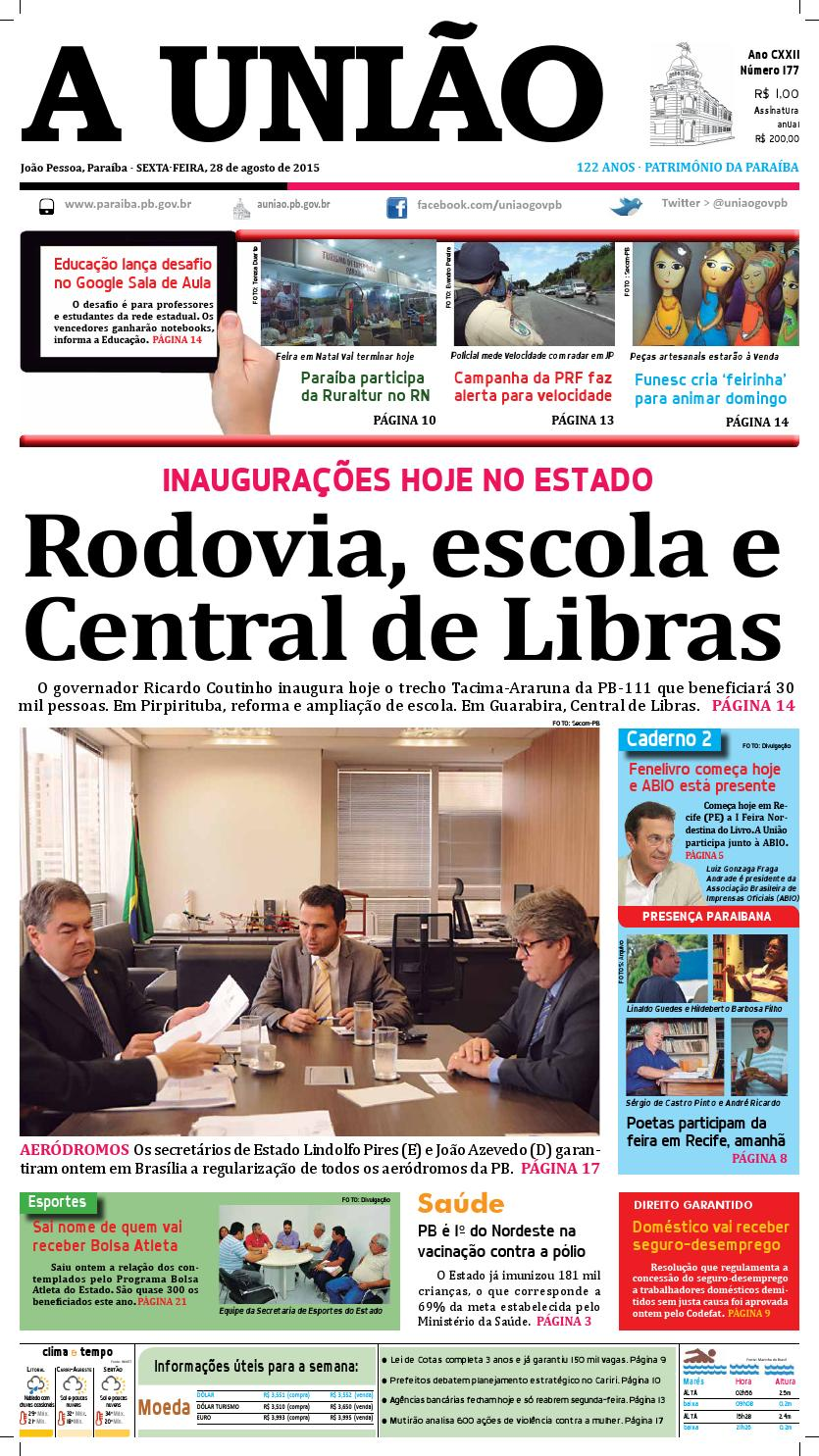 775c605f18 Jornal A União - 28 08 2015 by Jornal A União - issuu