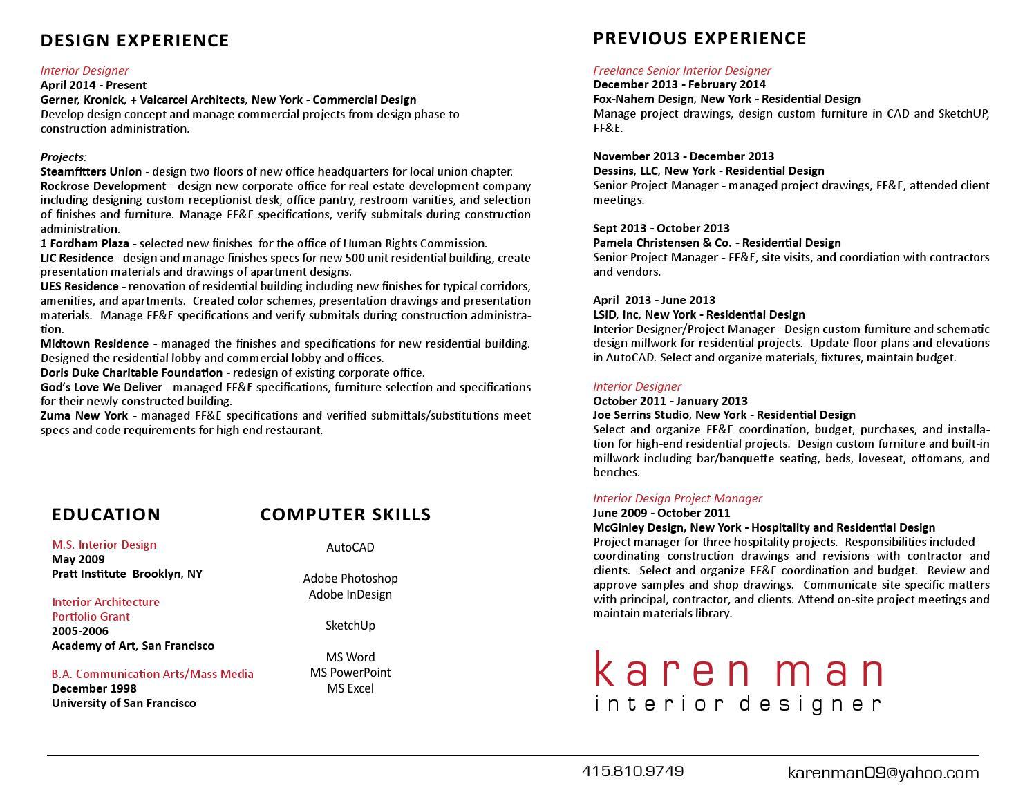 Karenman Resume By Karen Man