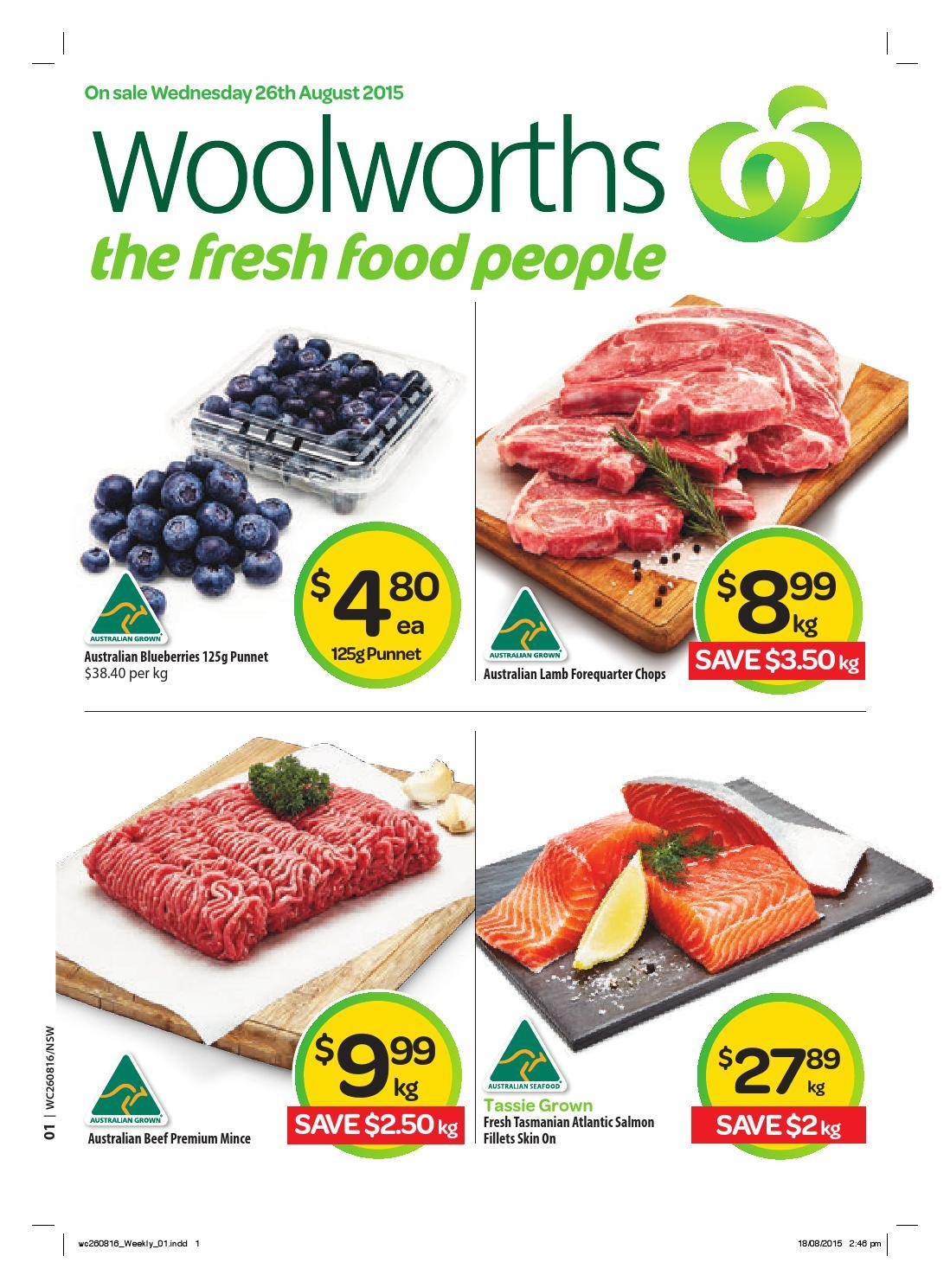 Nsw Woolworths 260815 010915 By Hojunara Issuu Fancy Feast Grilled Tuna In Gravy 85g 6 Pcs Free Pouch