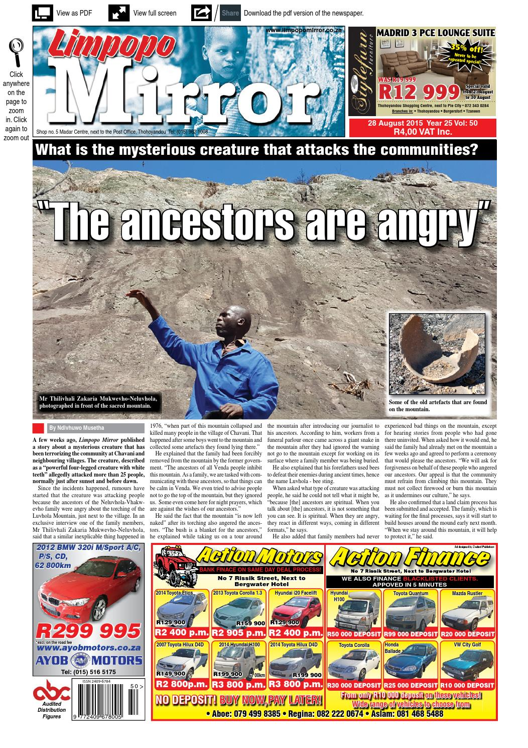 28 August 2015 - Limpopo Mirror by Zoutnet - issuu