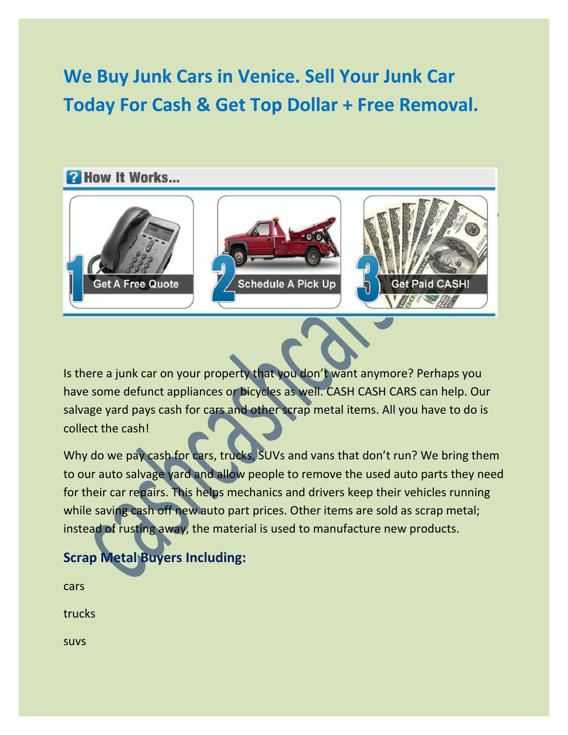 Cash For Junk Cars in Venice by Steve Roser - issuu