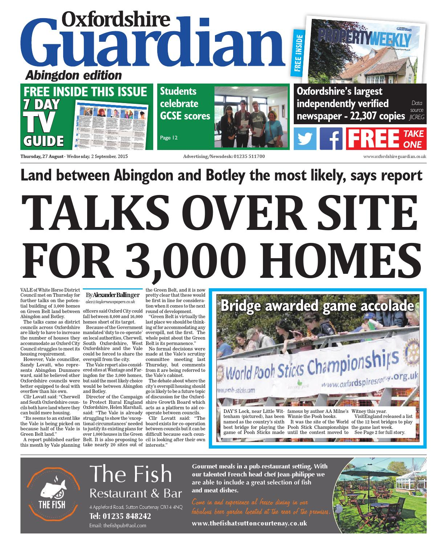 foto de 27 august 2015 oxfordshire guardian abingdon by Taylor Newspapers ...