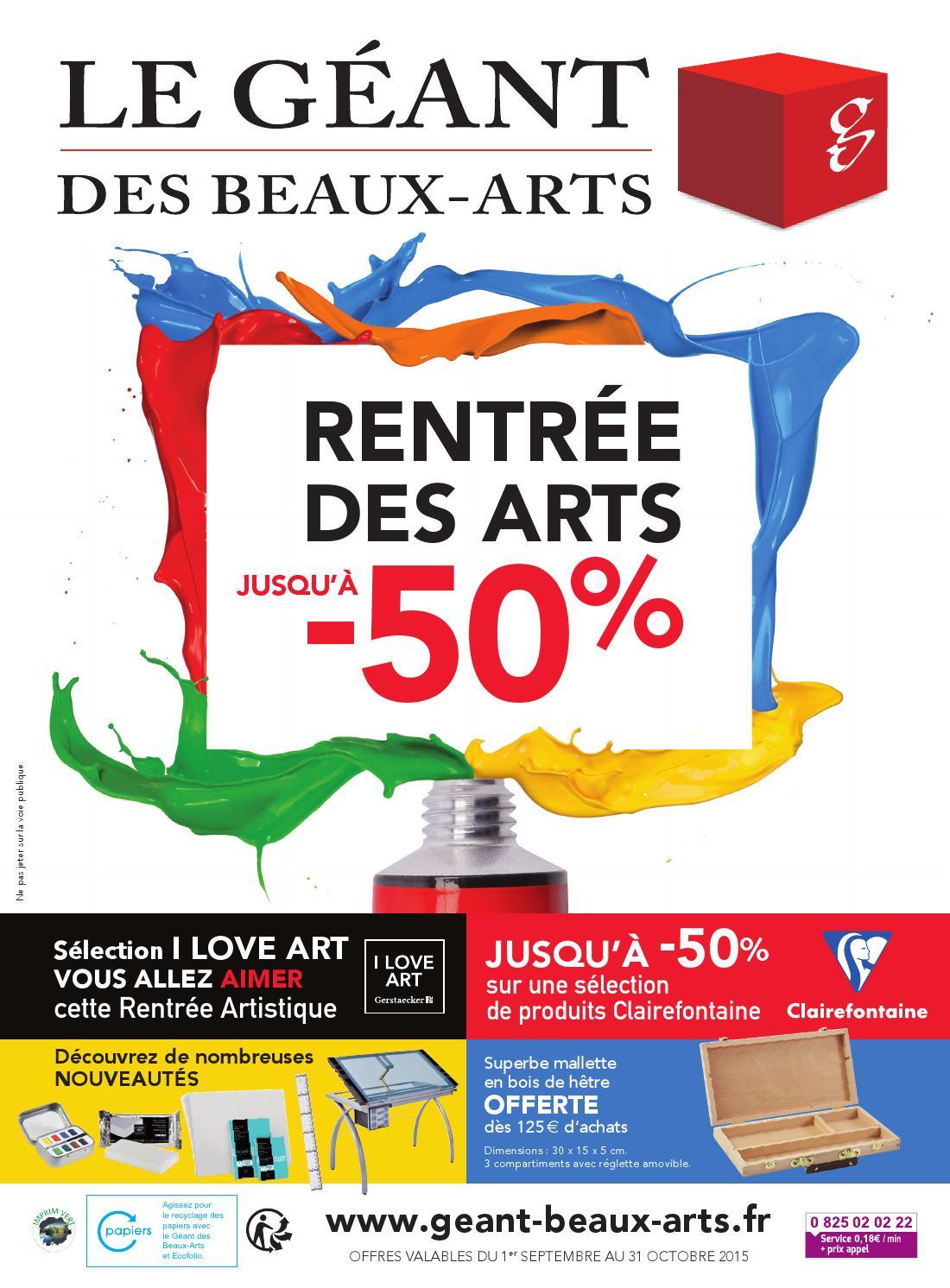 Rentrée des Arts by Le Géant des Beaux Arts issuu