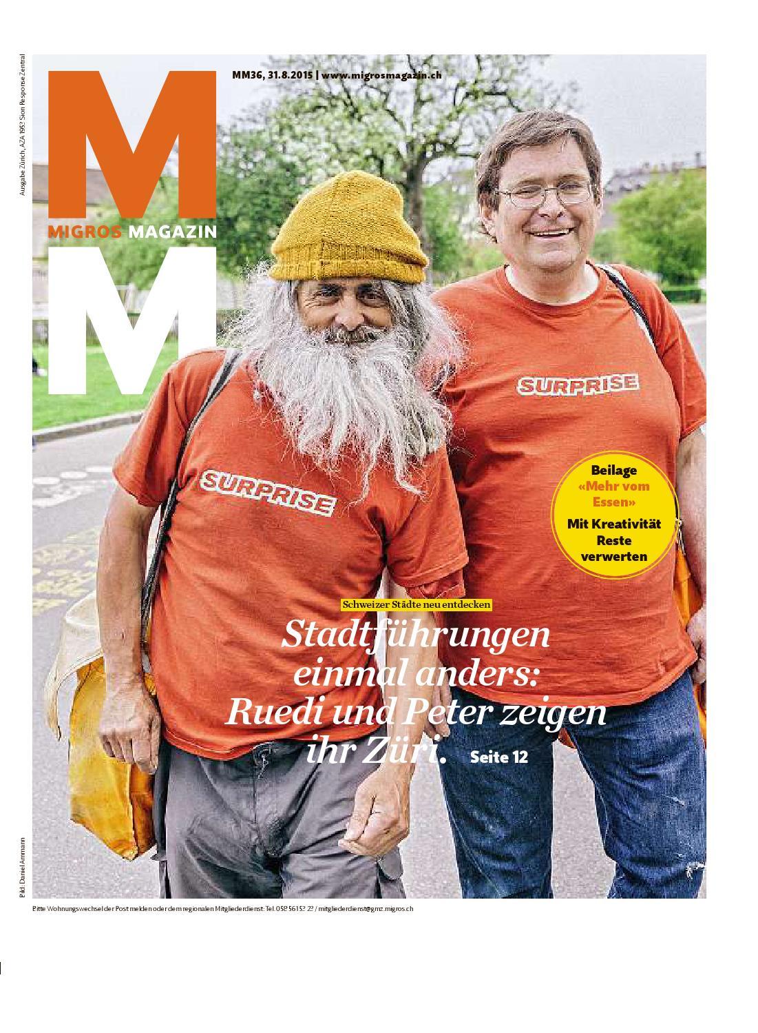 migros magazin 36 2015 d zh by migros genossenschafts bund issuu  Neue Ammann 22 Dblau Schlafanzge Herren Verkauf P 1082 #1