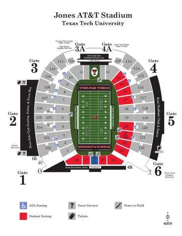 Map Of Texas Tech.2015 Jones At T Stadium Map By Texas Tech Athletics Issuu