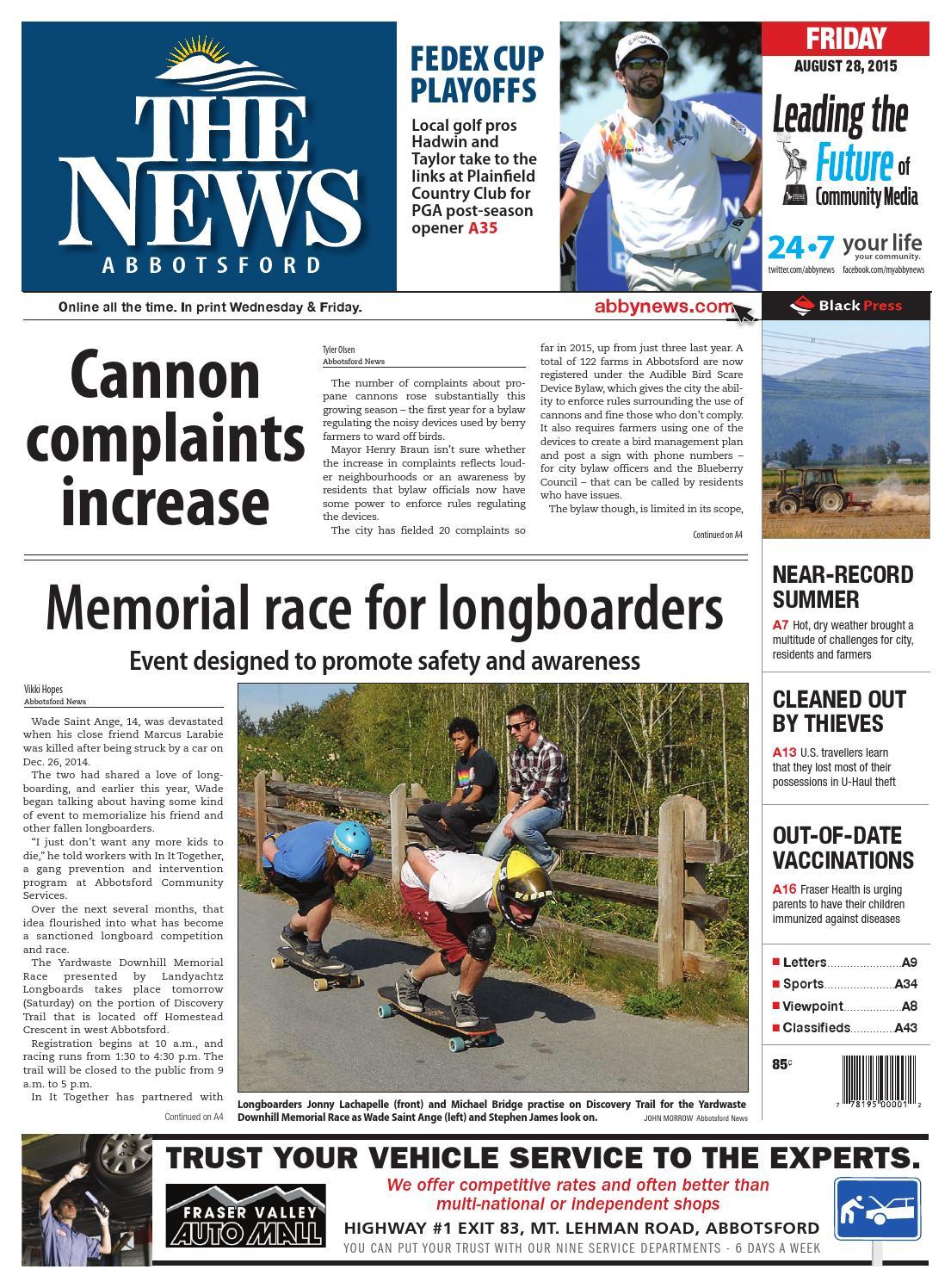 Abbotsford News, August 28, 2015 by Black Press - issuu