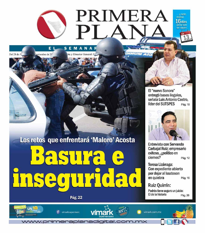 Edición del 28 de Agosto al 3 de septiembre del 2015 by Semanario Primera  Plana - issuu c7ecd3b48018