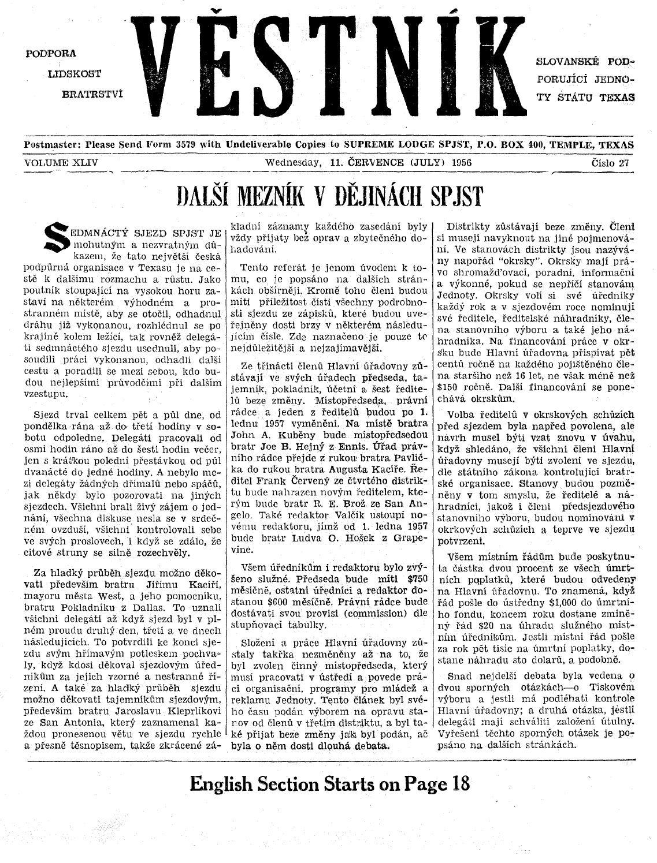 3d56737a74 Vestnik 1956 07 11 by SPJST - issuu