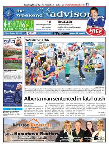Williams Lake Tribune August 28 2015 By Black Press