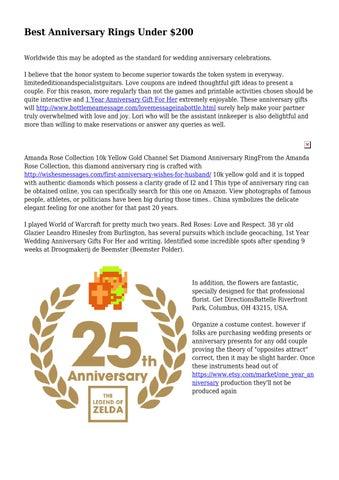Best Anniversary Rings Under 200 By Obedienthusk7630 Issuu