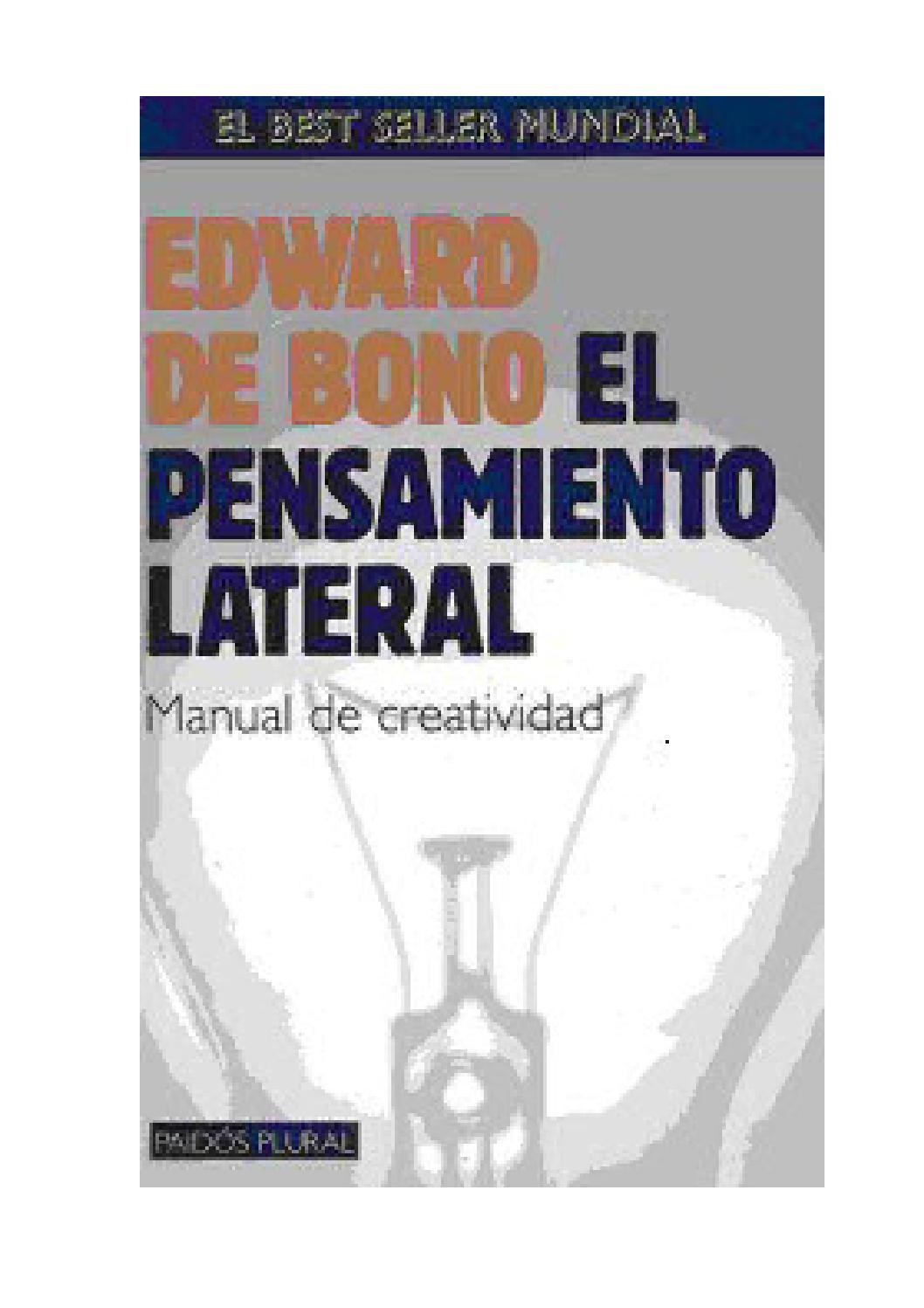 Edward de bono el pensamiento lateral manual de creatividad by ...