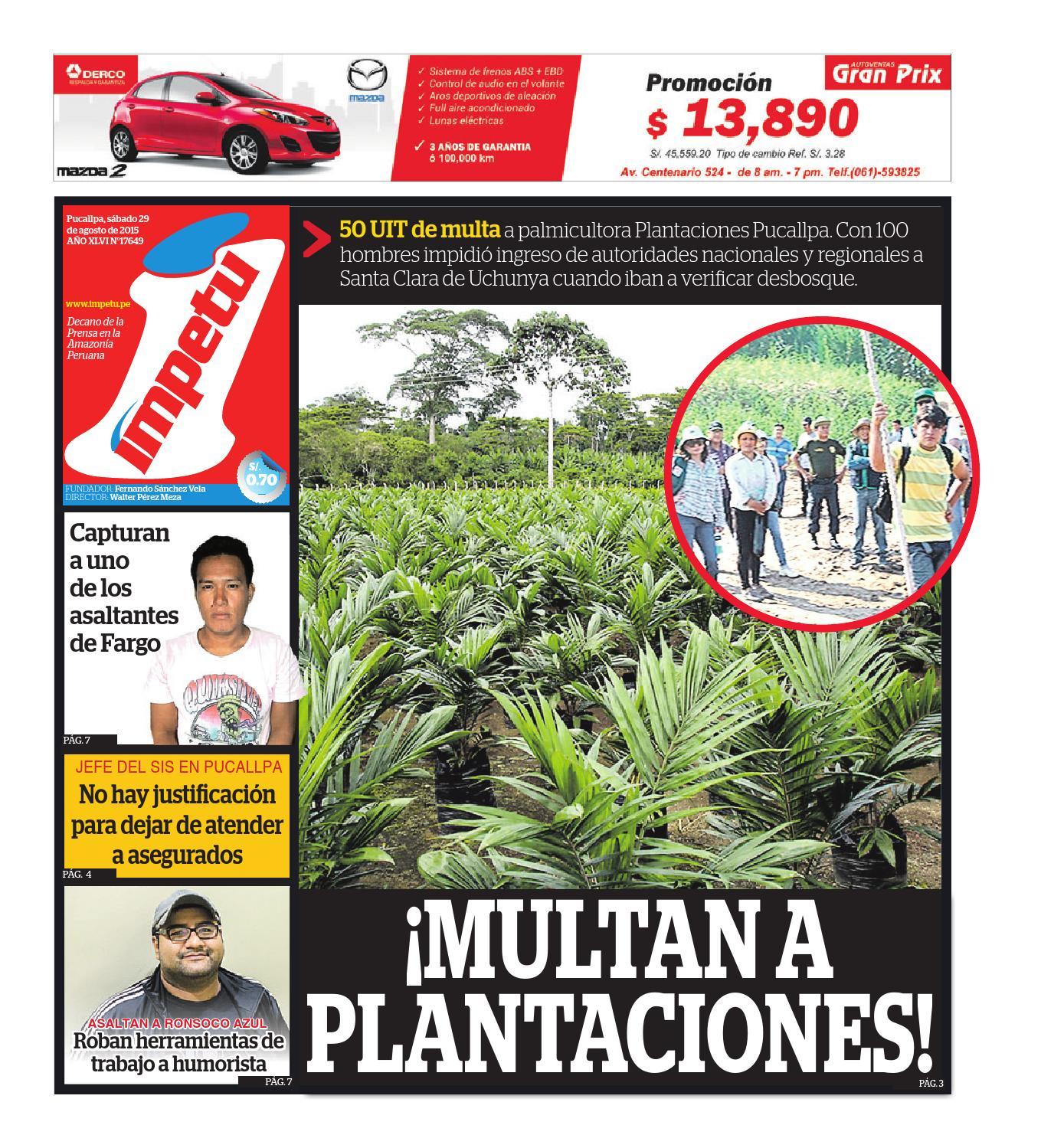 Impetu 29 de agosto de 2015 by Diario Ímpetu - issuu