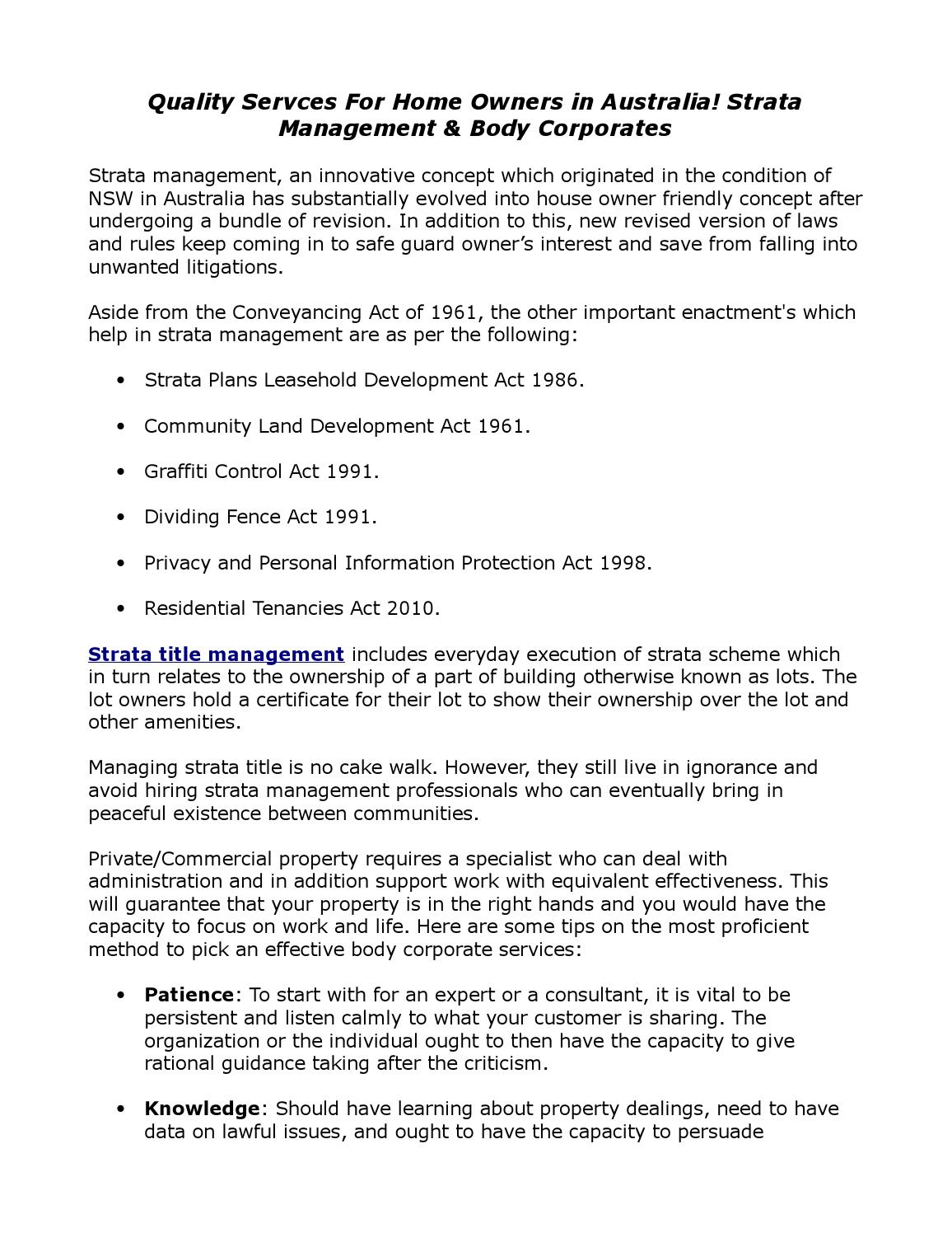 strata management act nsw pdf