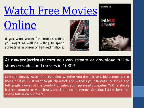 free movies online project free tv