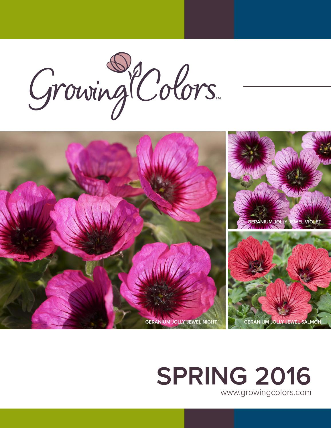 2016 Growing Colors Catalog By Gardenworld Issuu