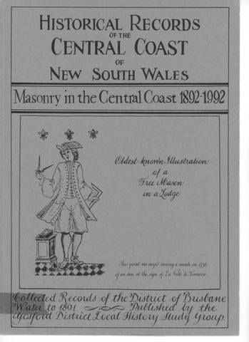 Masonry in the Central Coast 1892-1992  Book Two  by Central