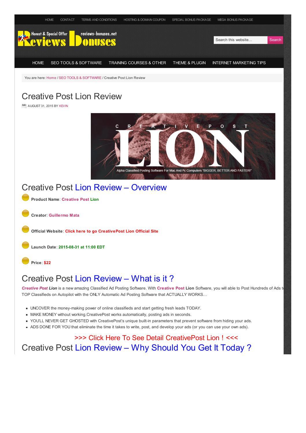 C Lion Review Creative Post L...