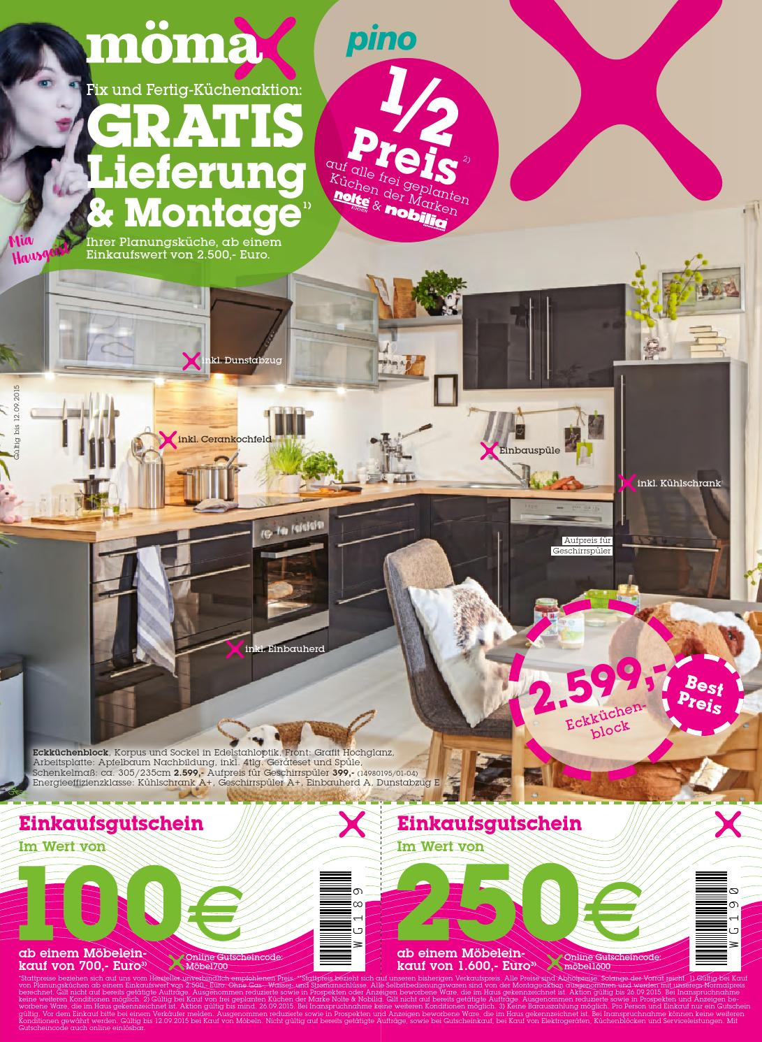 Moemax Angebote 31august 12september2015 By Promoangebote At Issuu