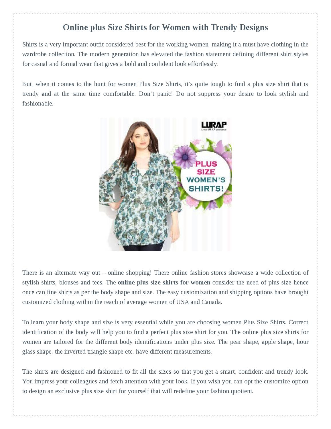 Online Plus Size Shirts For Women With Trendy Designs By Alice Lodge