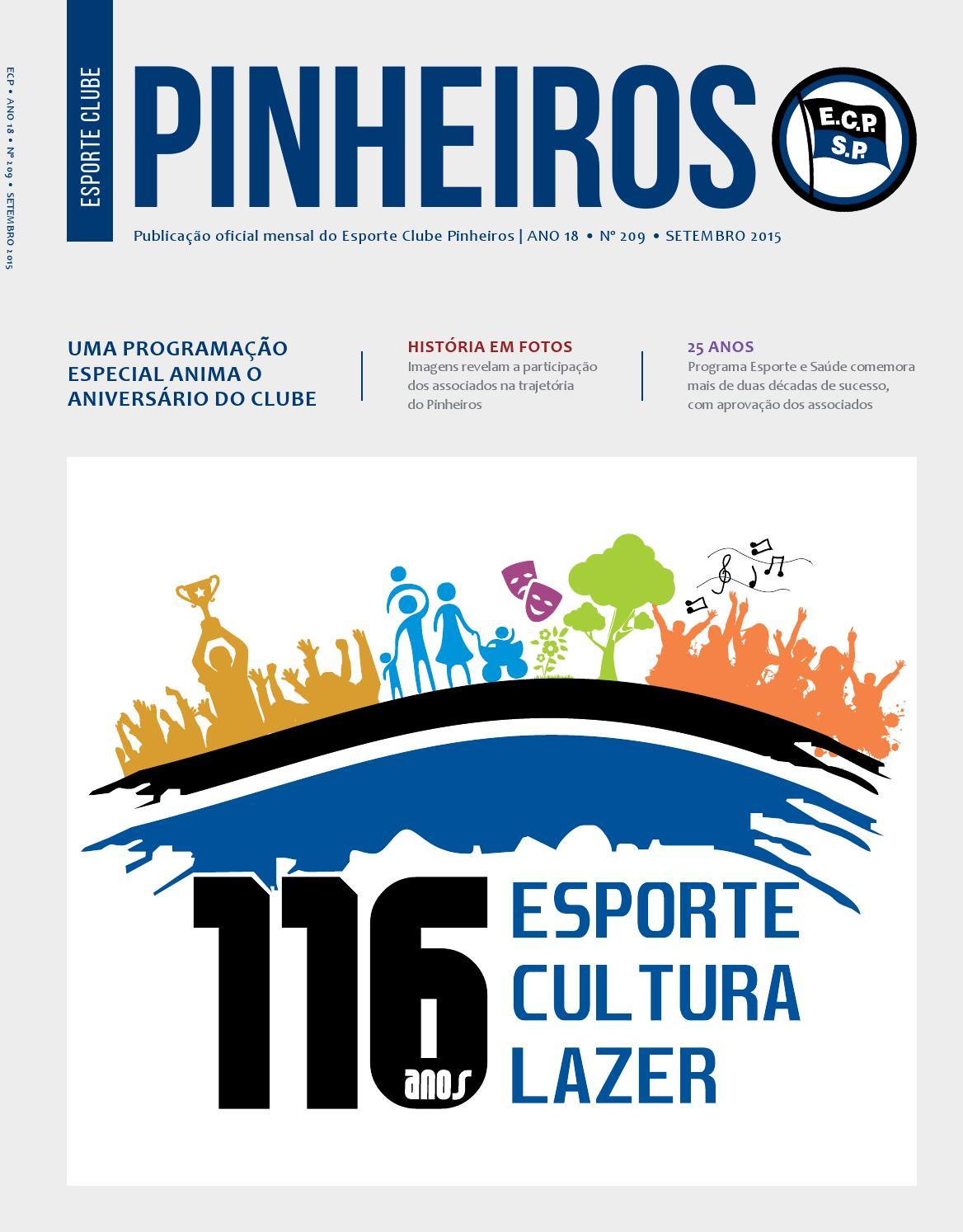 96b712a0325 Revista Nº 209 - Setembro 2015 by Esporte Clube Pinheiros - issuu