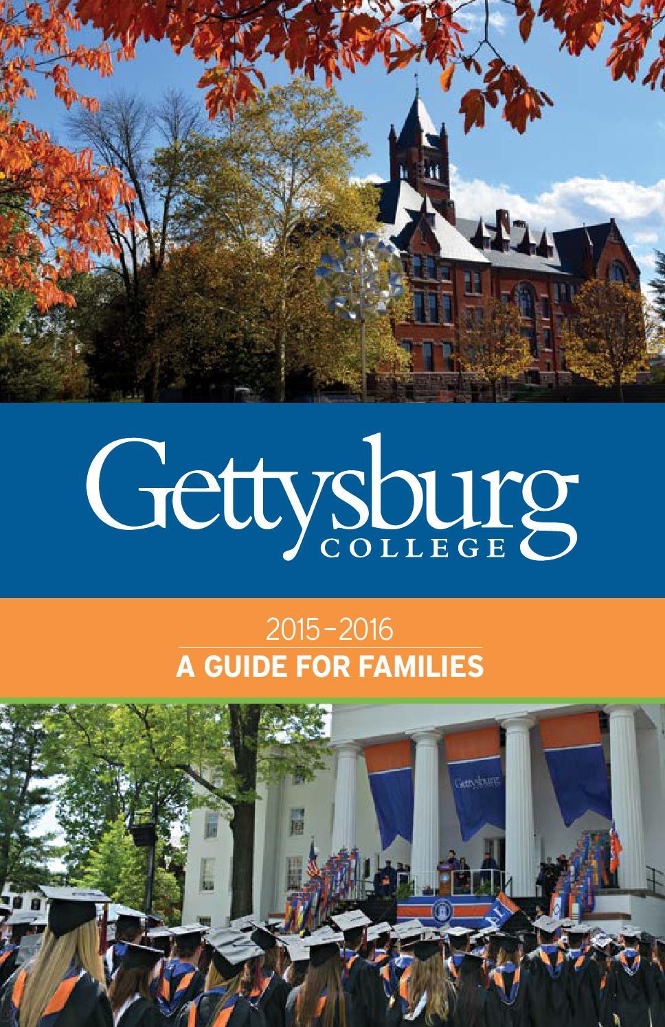 Gettysburg Academic Calendar.Gettysburg College 2015 2016 Guide For Parents By Universityparent