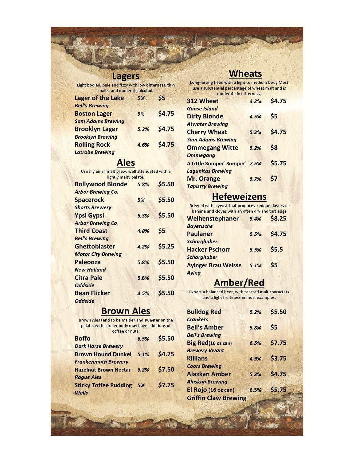Beer Menu by OrderEze com - issuu
