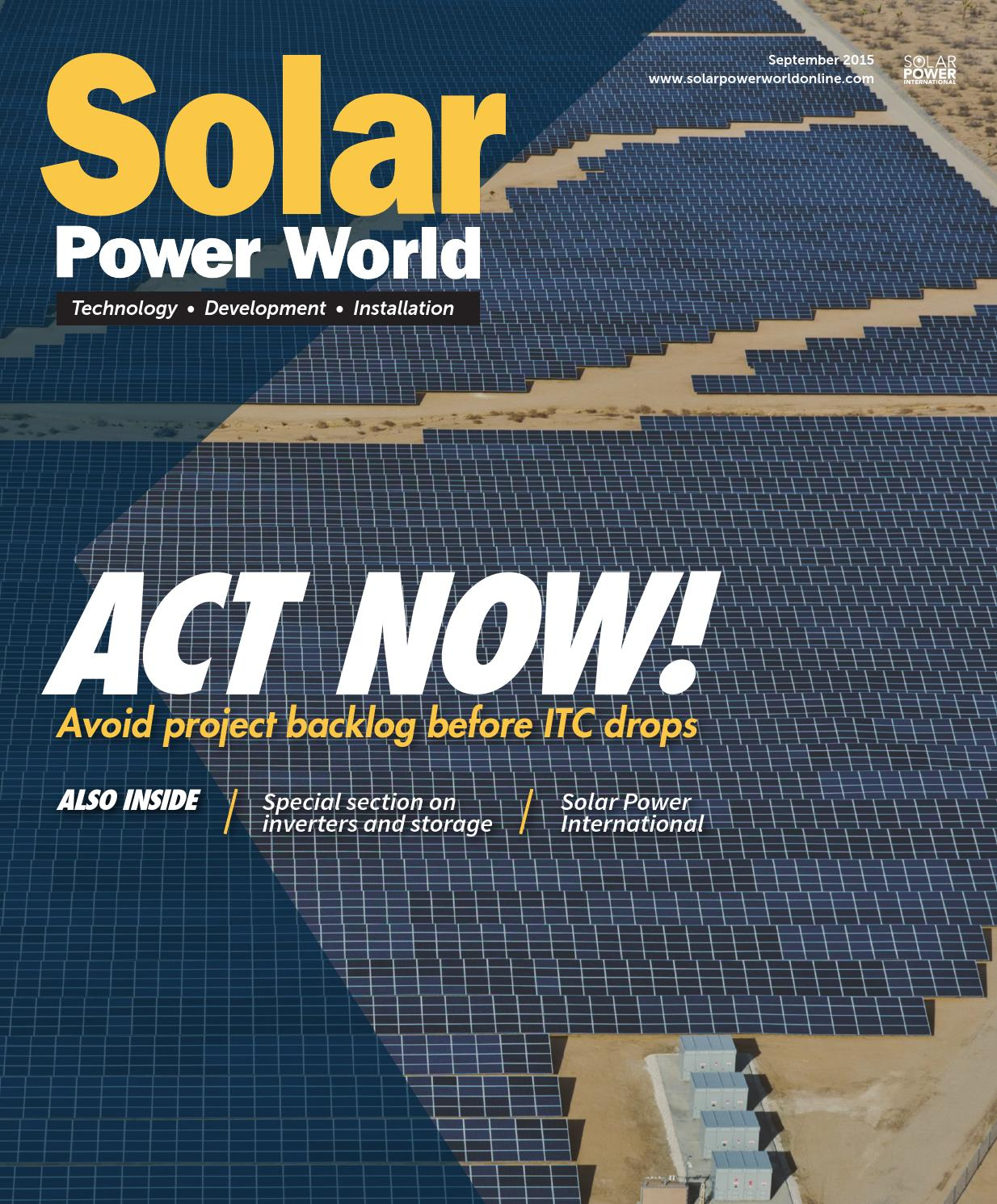 Solar Power World September 2015 By Wtwh Media Llc Issuu Panel With Corrugated Thin Film Cells On Wiring Panels In