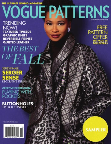 Vogue Patterns Magazine Octobernovember 2015 Sampler By The Mccall
