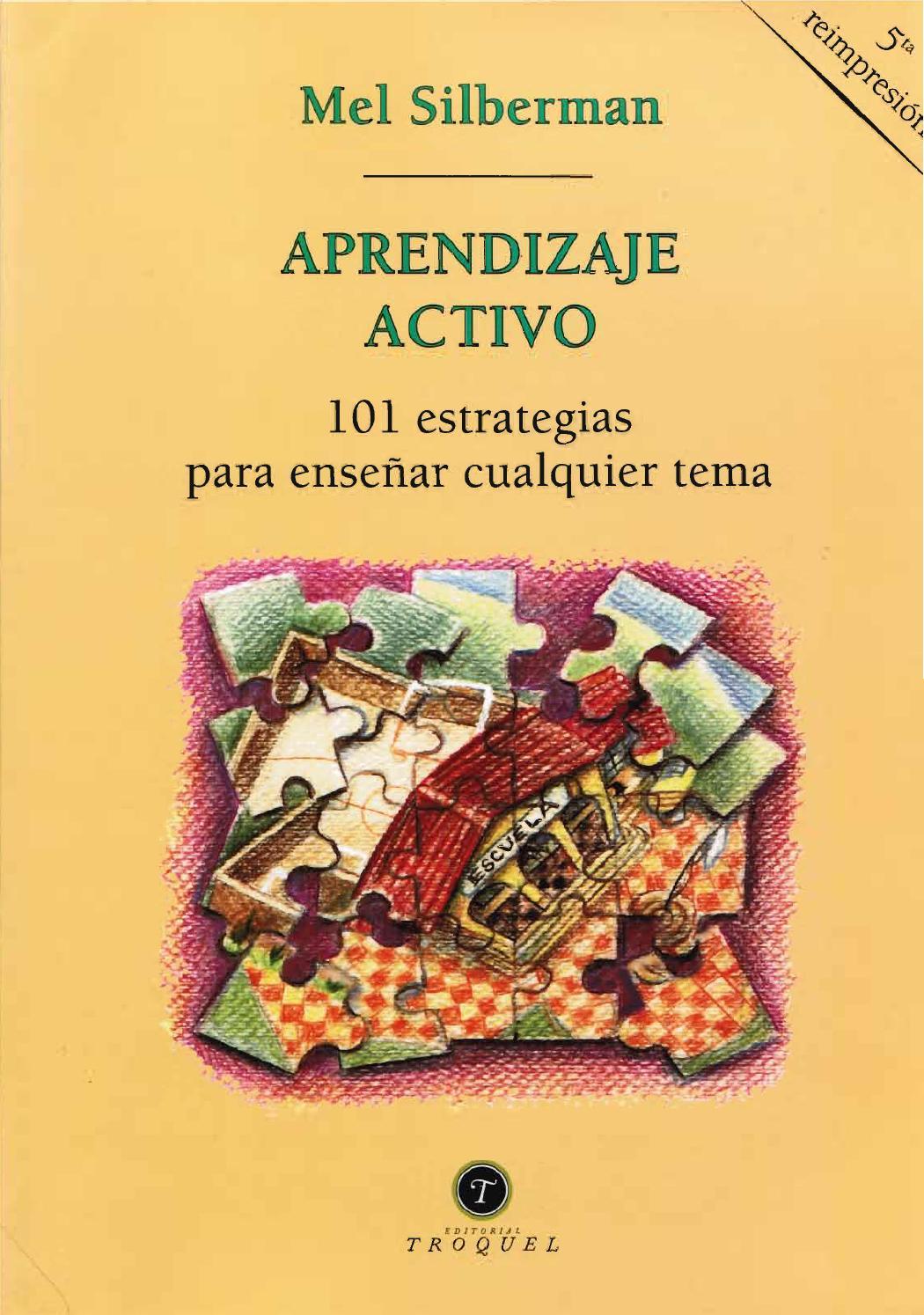 Aprendazaje activo 101 estrategias para ensenar by Alfonso Fonseca ...