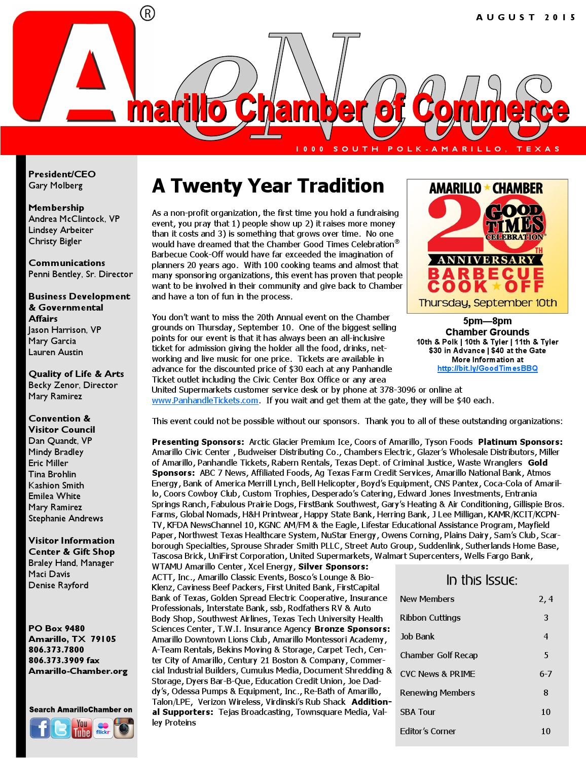August 2015 Enews By Amarillo Chamber Of Commerce Issuu