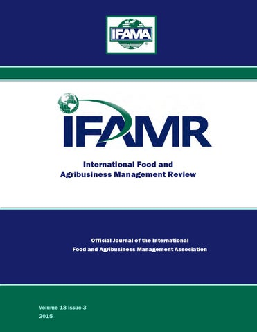 6b58a93a532d Volume 18 Issue 3 by IFAMA - issuu