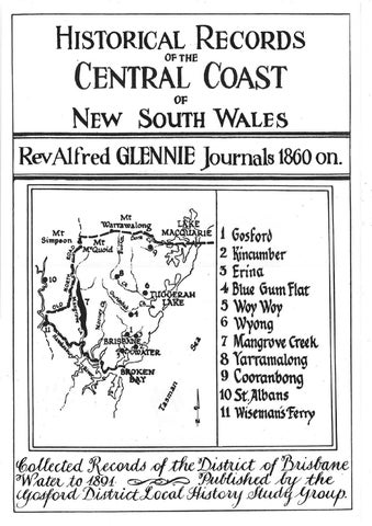 Rev  Alfred Glennie Journals 1860 on  by Central Coast Council - issuu