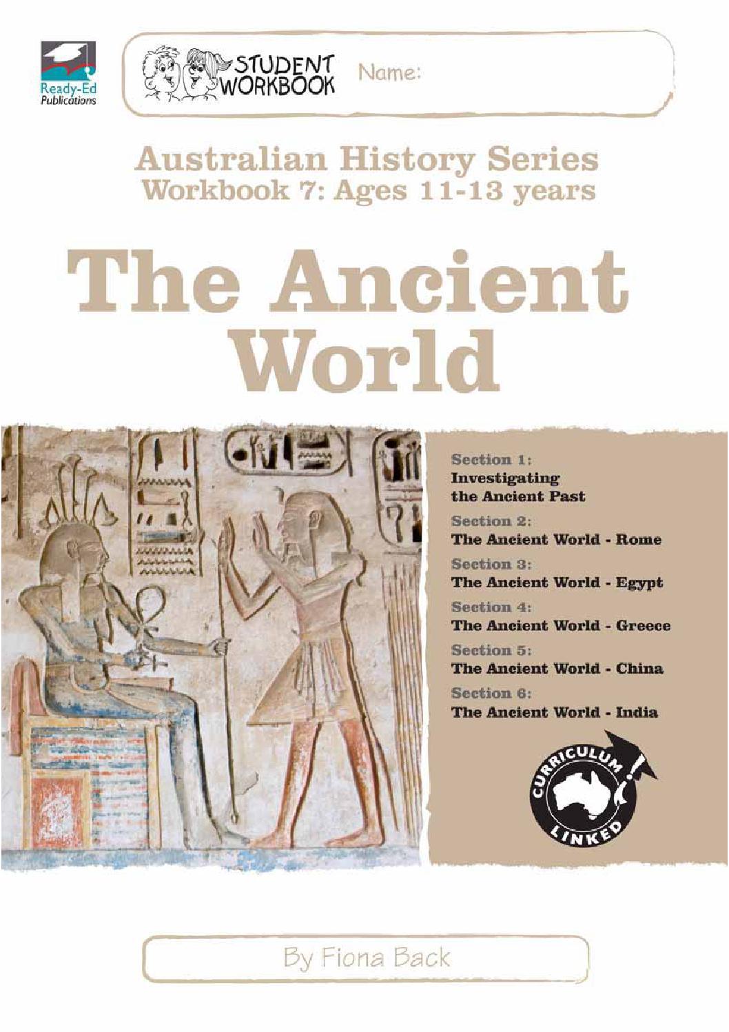 Workbooks bc science 10 workbook : Australian History Series Workbook 7: The Ancient World sample by ...