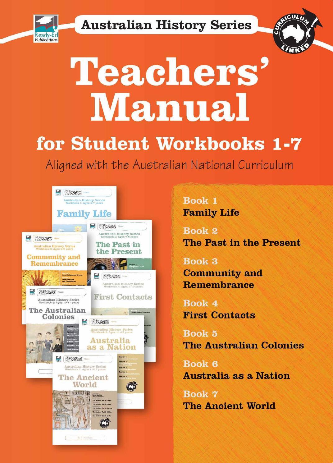 Workbooks bc science 10 workbook : Australian History Series Workbook: Teachers' Manual sample by ...