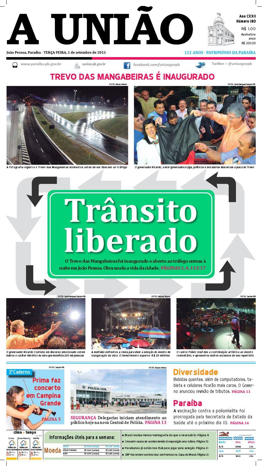 eefd81b006 Jornal A União - 01 09 2015 by Jornal A União - issuu