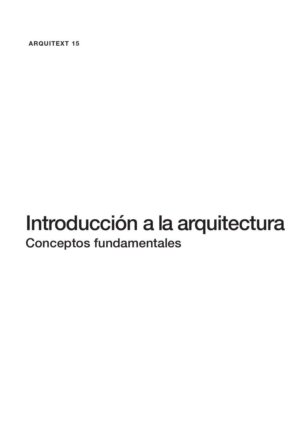Introducci N A La Arquitectura Conceptos Fundamentales By Veronica  # Muebles Keops Pasto