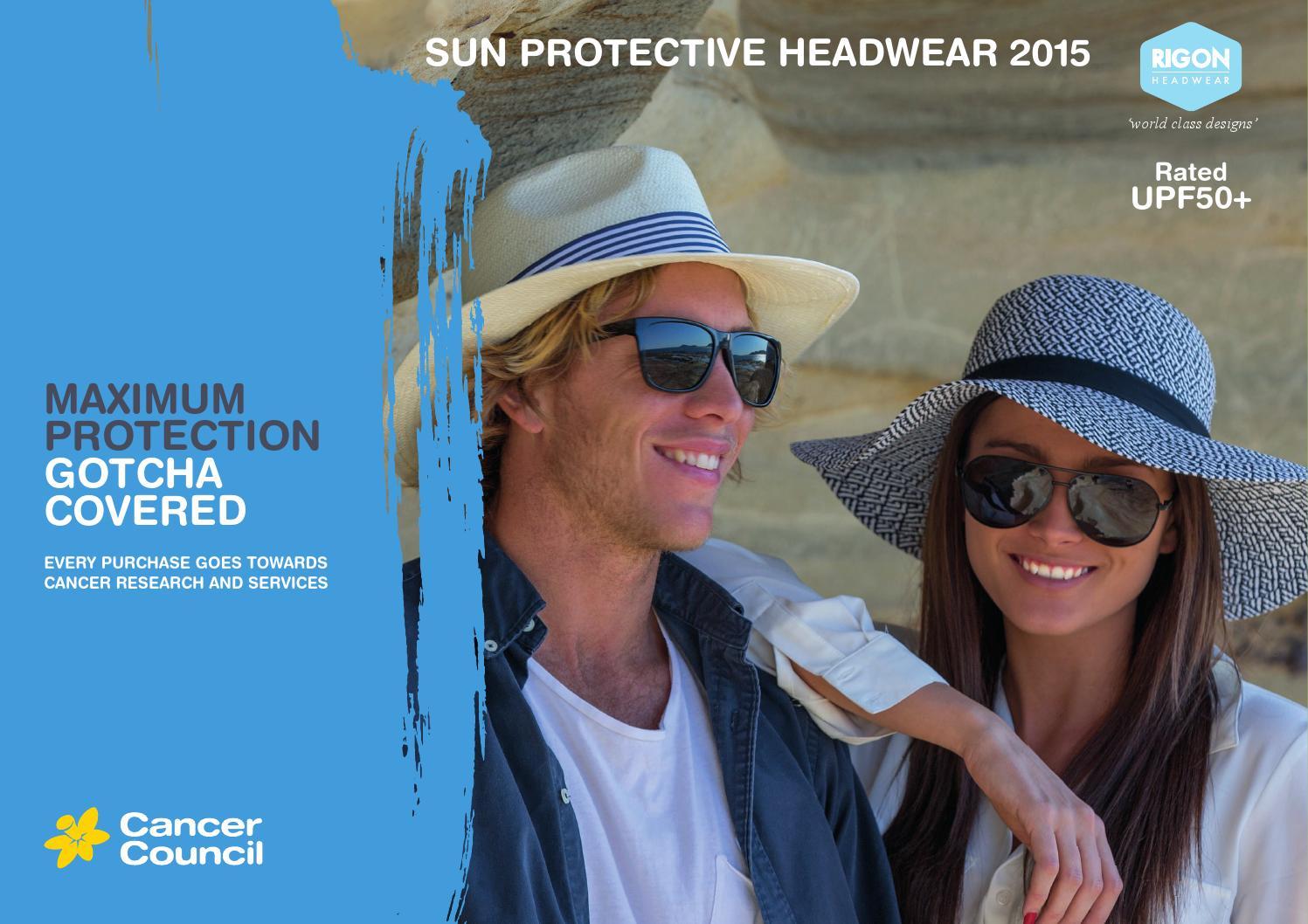 9b8ccb74 Sun Protective Headwear 2015 by Cancer Council Australia by Rigon Headwear  - issuu