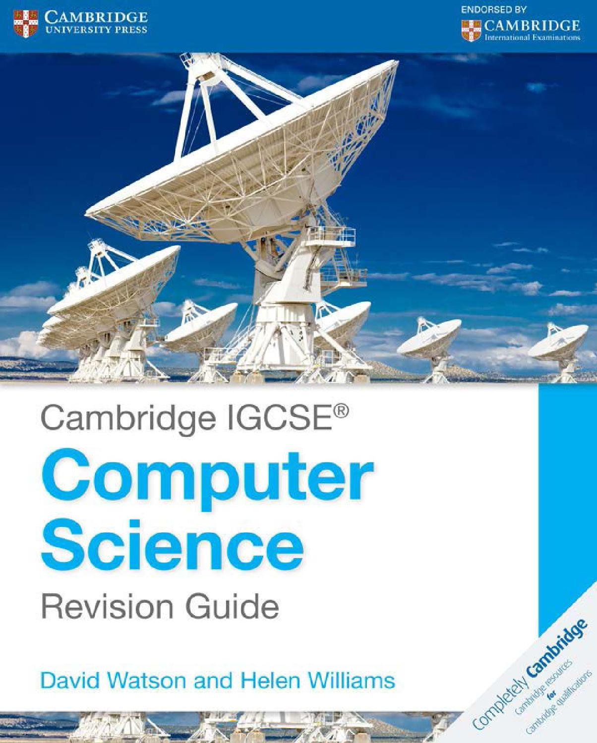 Preview Cambridge IGCSE Computer Science Revision Guide by Cambridge  University Press Education - issuu