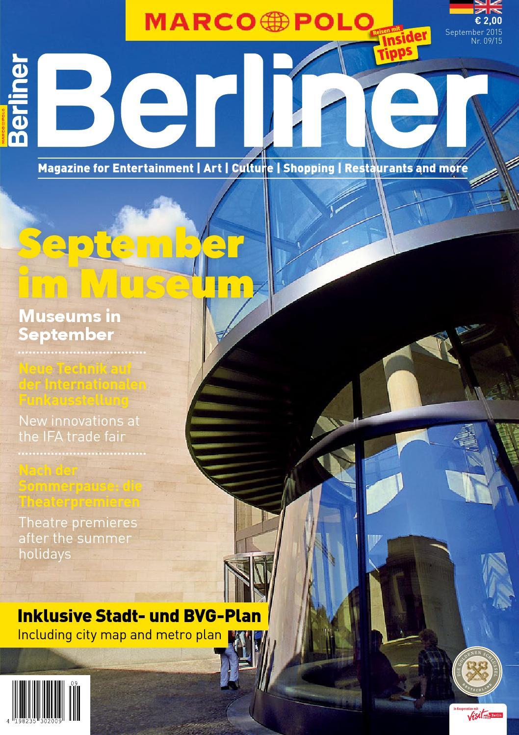 MARCO POLO Berliner 09/15 by Berlin Medien GmbH - issuu