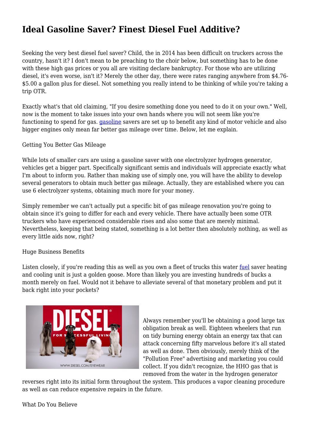 ideal gasoline saver finest diesel fuel additive by earl5meyer45