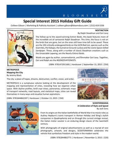 Bloomsbury Special Interest Rights Guide London 2017 By Bloomsbury
